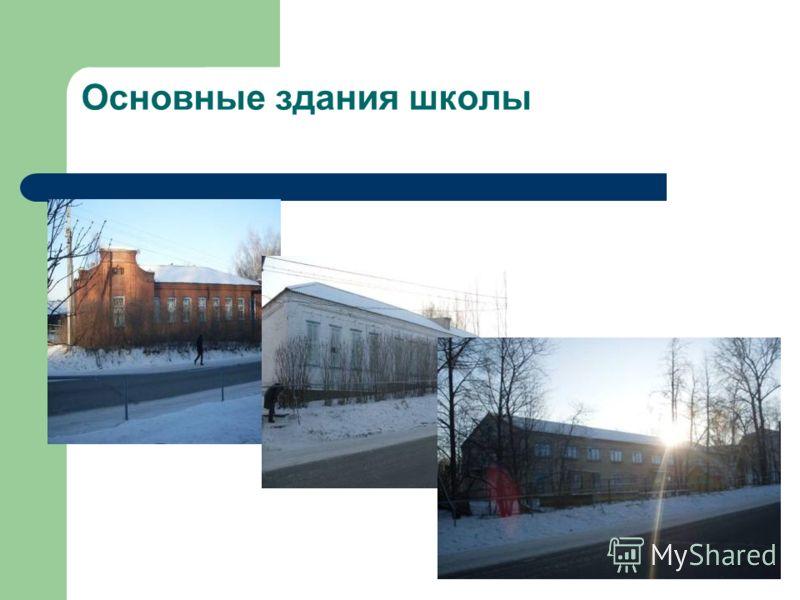 Основные здания школы
