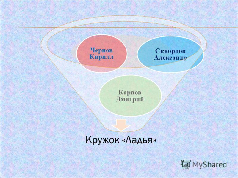 Кружок «Ладья» Карпов Дмитрий Чернов Кирилл Скворцов Александр
