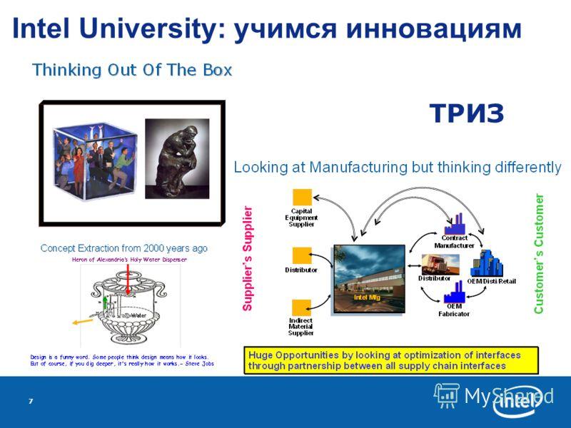 7 Intel University: учимся инновациям ТРИЗ