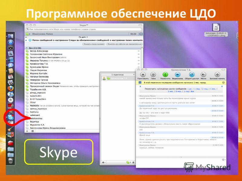 Программное обеспечение ЦДО Skype