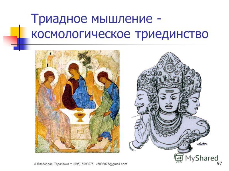 © Владислав Тарасенко т. (095) 5093075, v5093075@gmail.com 97 Триадное мышление - космологическое триединство