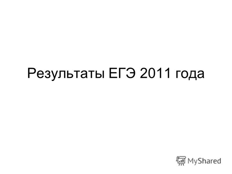 Результаты ЕГЭ 2011 года