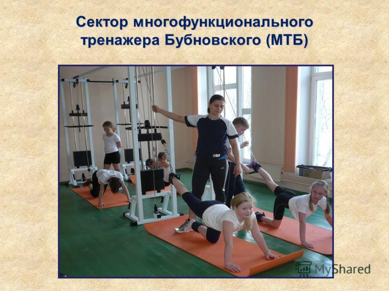 Сектор многофункционального тренажера Бубновского (МТБ)