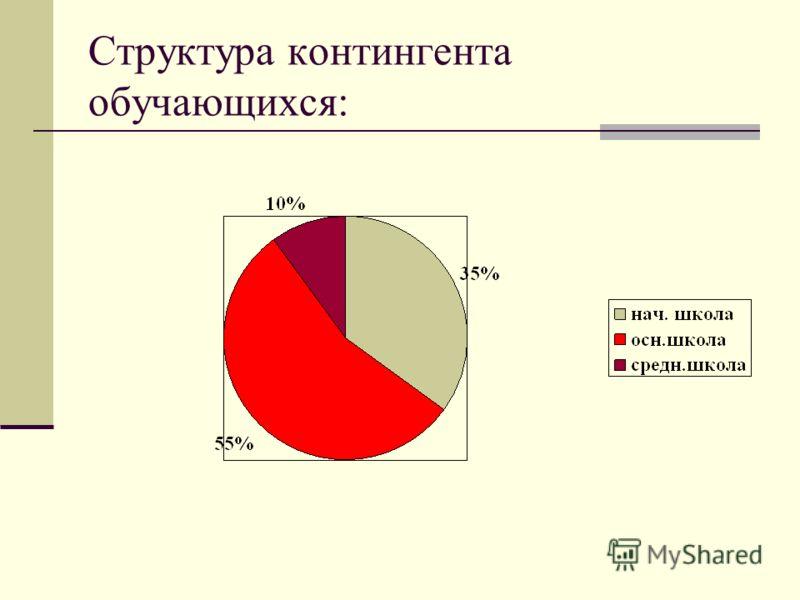 Структура контингента обучающихся: