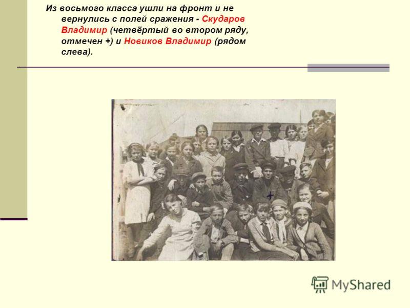 С отличием окончил нашу школу. Погиб в Восточной Пруссии в январе 1945 года Рябошапков Георгий Дмитриевич
