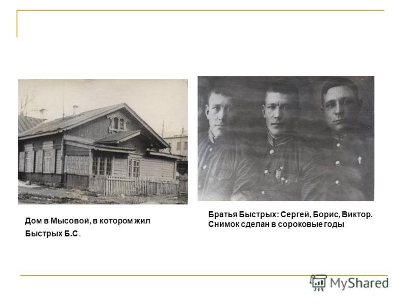 Штабом «Поиск» получено несколько писем от сестры Героя Советского Союза Быстрых Б.С. Людмилы Степановны