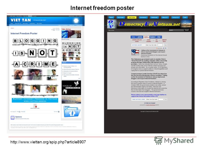 Internet freedom poster http://www.viettan.org/spip.php?article8907