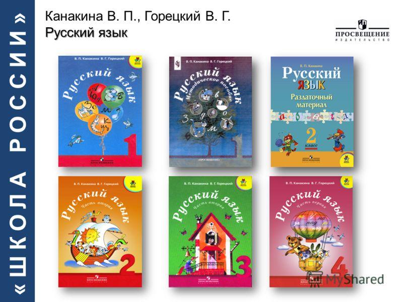 «ШКОЛА РОССИИ» Русский язык Канакина В. П., Горецкий В. Г. Русский язык