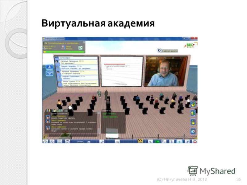Виртуальная академия ( С ) Никуличева Н. В., 2012 35