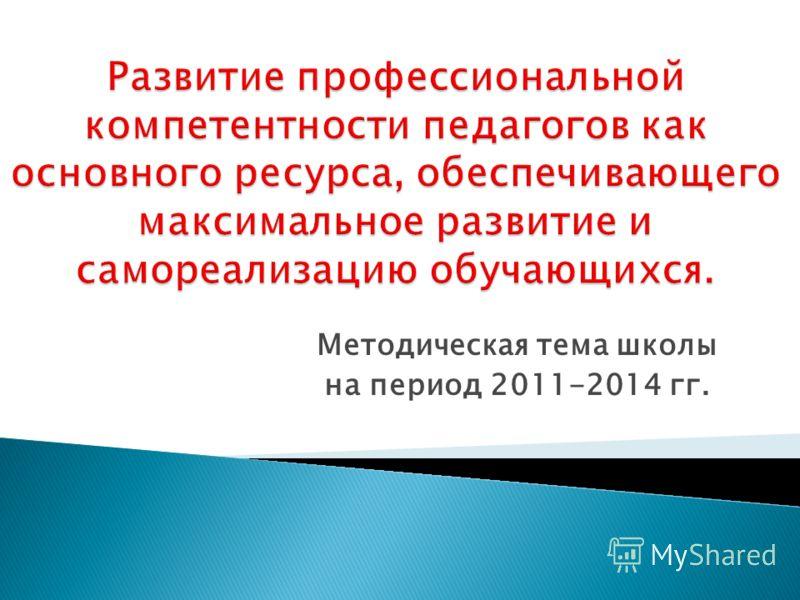 Методическая тема школы на период 2011-2014 гг.