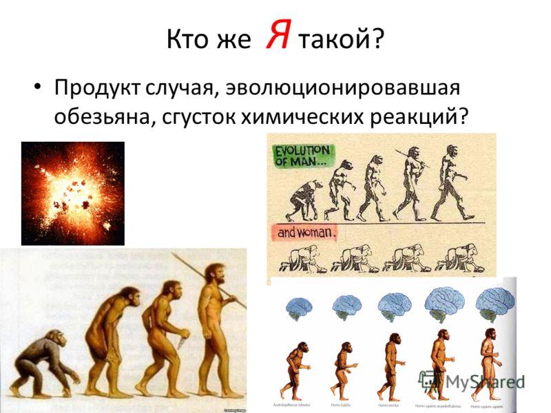 Кто же Я такой? Продукт случая, эволюционировавшая обезьяна, сгусток химических реакций?