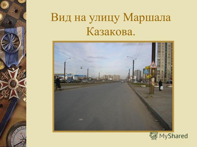 Вид на улицу Маршала Казакова.