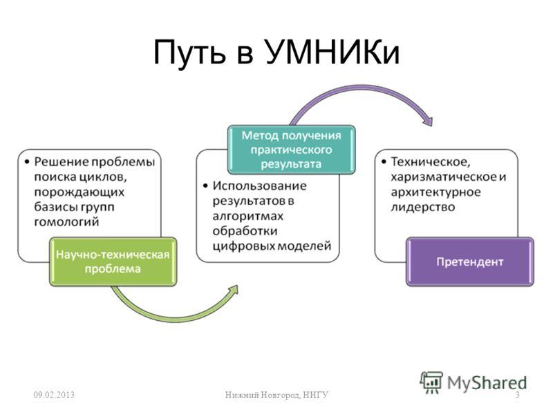 Путь в УМНИКи 09.02.20133 Нижний Новгород, ННГУ