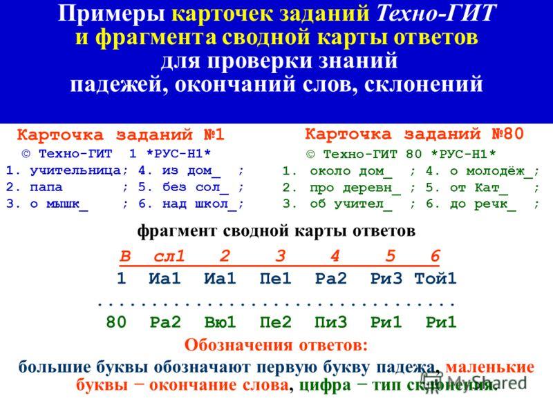 Сводная карта ответов для 41...80 вариантов заданий ( проверка знаний умножения и деления чисел) В о1 2 3 4 5 6 7 8 9 10 41 28 72 8 9 27 7 3 1 4 1 42 40 16 14 8 16 7 6 9 9 2 43 5 72 18 16 18 1 3 7 6 6 44 54 7 18 30 20 5 8 9 5 9 45 2 8 20 90 9 6 5 7 5