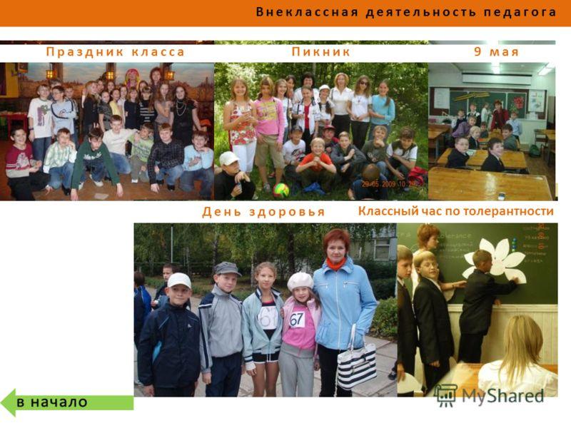 День здоровья 9 мая Внеклассная деятельность педагога ПикникПраздник класса Классный час по толерантности