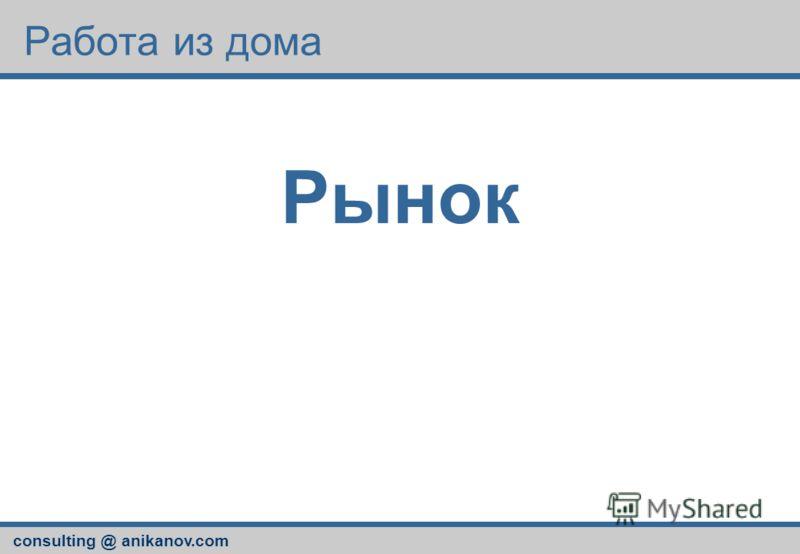 consulting @ anikanov.com Работа из дома Рынок