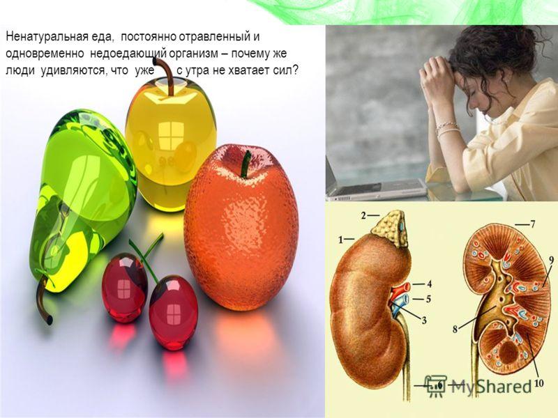 Ненатуральная еда, постоянно отравленный и одновременно недоедающий организм – почему же люди удивляются, что уже с утра не хватает сил?