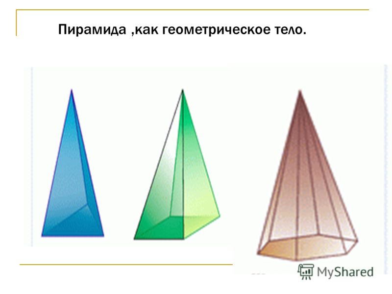 Назад Пирамида,как геометрическое тело.