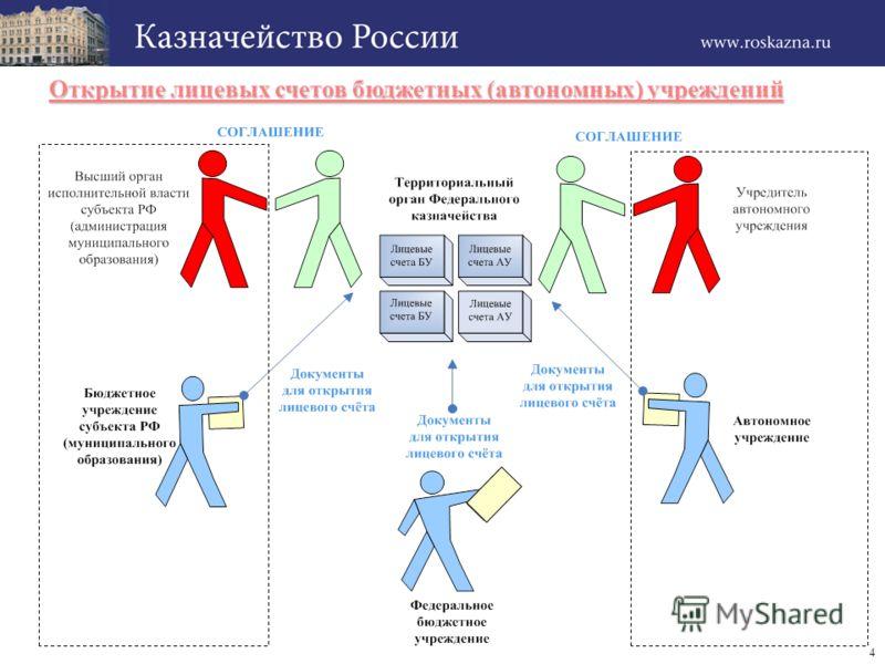 4 Открытие лицевых счетов бюджетных (автономных) учреждений