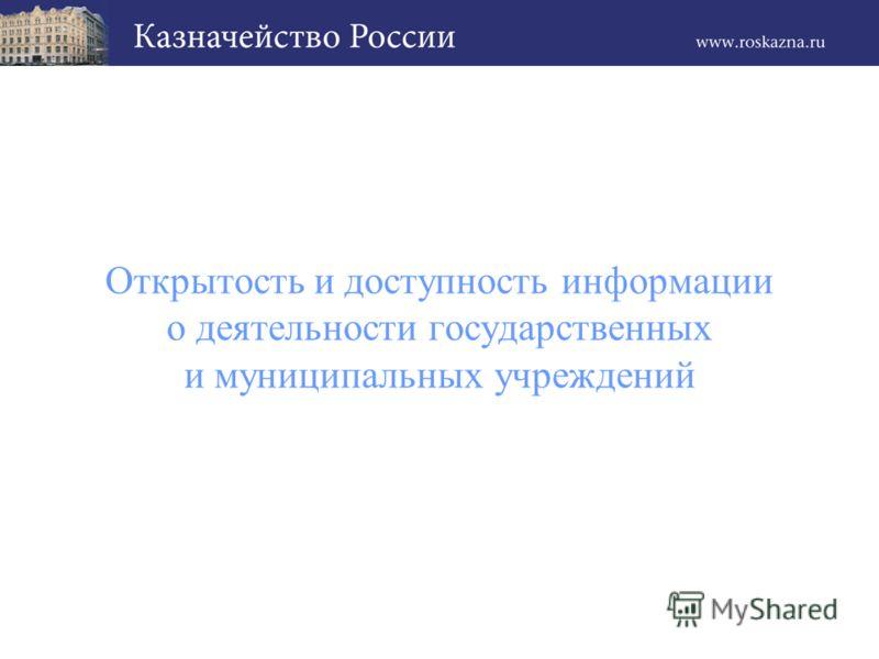 Открытость и доступность информации о деятельности государственных и муниципальных учреждений