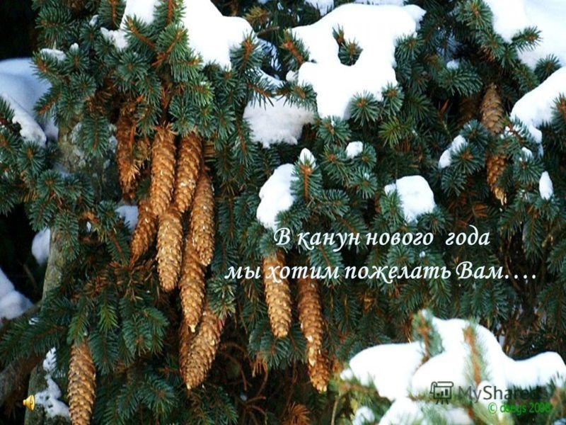 В канун нового года мы хотим пожелать Вам….
