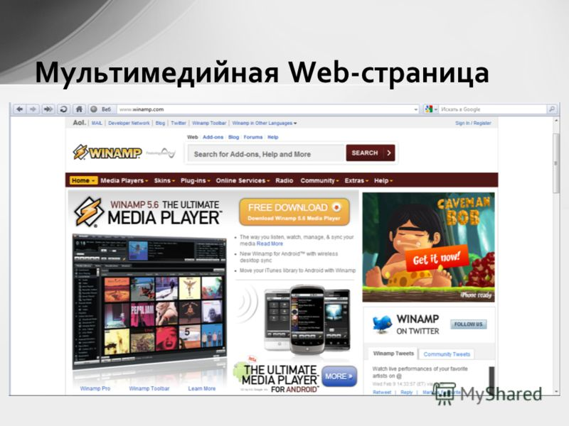 Мультимедийная Web-страница