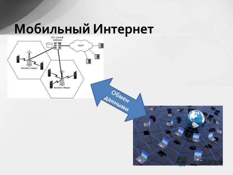 Мобильный Интернет Обмен данными