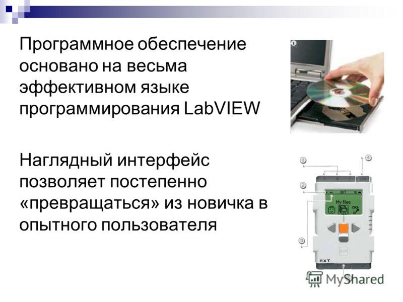 Программное обеспечение основано на весьма эффективном языке программирования LabVIEW Наглядный интерфейс позволяет постепенно «превращаться» из новичка в опытного пользователя