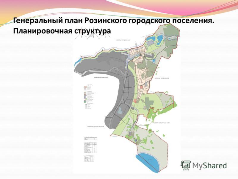 Генеральный план Розинского городского поселения. Планировочная структура