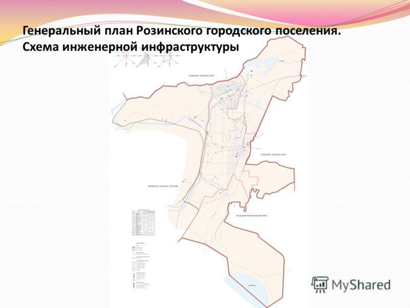 Генеральный план Розинского городского поселения. Схема инженерной инфраструктуры