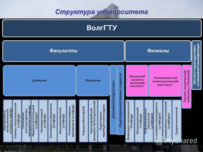 Структура университета