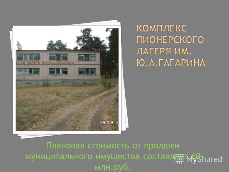 Плановая стоимость от продажи муниципального имущества составляет 60 млн.руб.