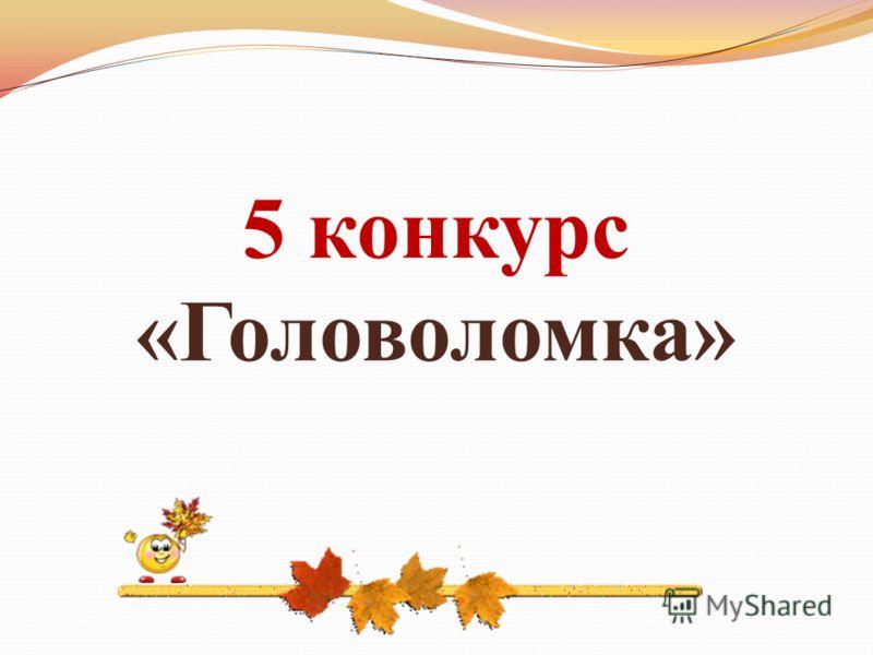 5 конкурс «Головоломка»