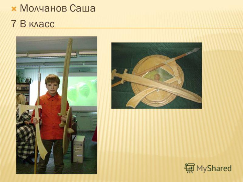 Молчанов Саша 7 В класс