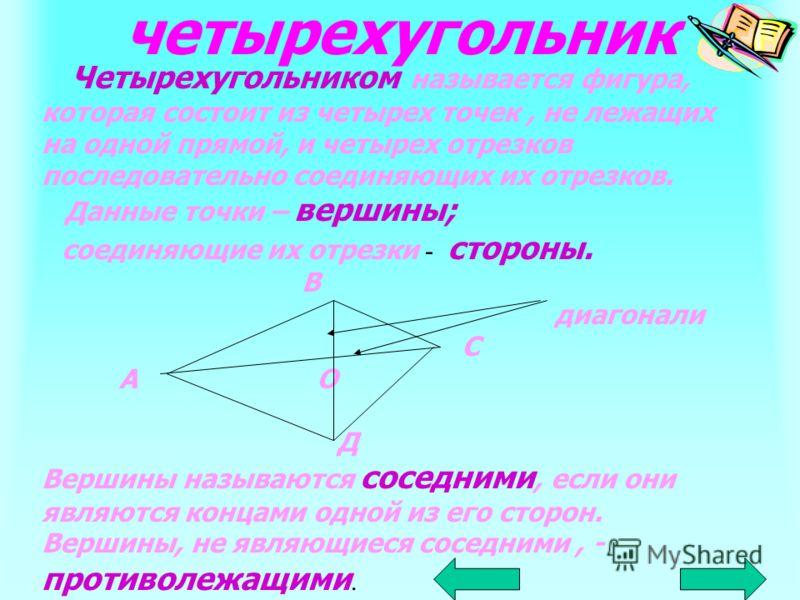 ЧЕТЫРЕХУГОЛЬНИКИ ВЫПУКЛЫЕНЕВЫПУКЛЫЕ параллелограмм прямоугольникромб трапеция квадрат прямоугольная равнобедренная