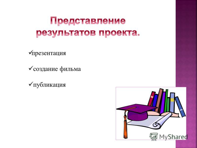 презентация создание фильма публикация