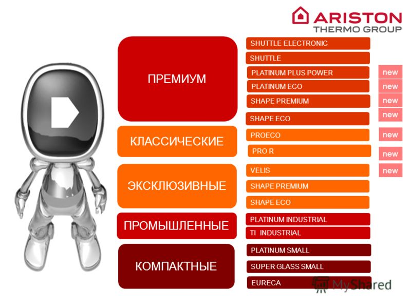 ARISTON THERMO GROUP 2010 PLATINUM INDUSTRIAL TI INDUSTRIAL SHUTTLE ELECTRONIC PLATINUM SMALL SUPER GLASS SMALL ПРОМЫШЛЕННЫЕ КЛАССИЧЕСКИЕ ПРЕМИУМ PROECO SHAPE PREMIUM SHAPE ECO PLATINUM ECO PLATINUM PLUS POWER КОМПАКТНЫЕ ЭКСКЛЮЗИВНЫЕ SHAPE ECO SHAPE