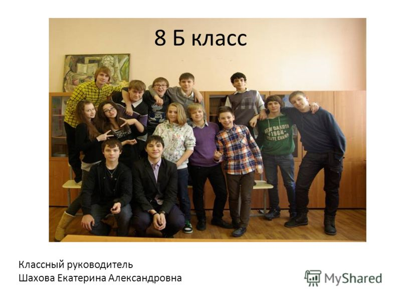8 Б класс Классный руководитель Шахова Екатерина Александровна