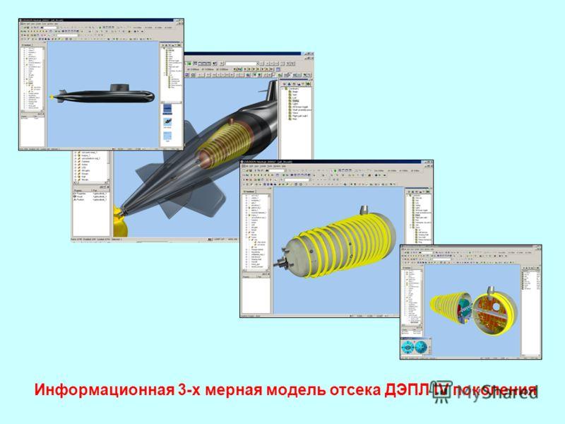 Информационная 3-х мерная модель отсека ДЭПЛ IV поколения