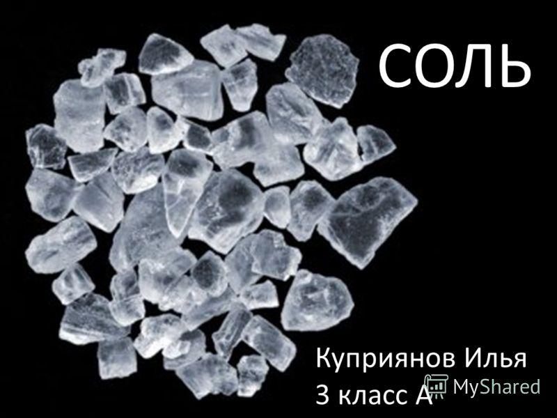 СОЛЬ Куприянов Илья 3 класс А
