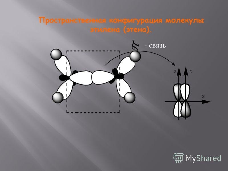 Пространственная конфигурация молекулы этилена (этена). - связь