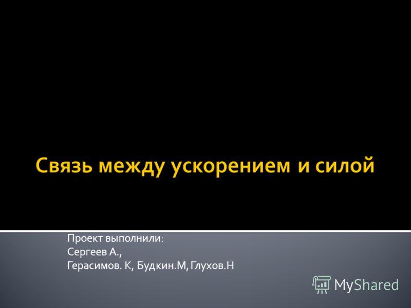 Проект выполнили: Сергеев А., Герасимов. К, Будкин.М, Глухов.Н