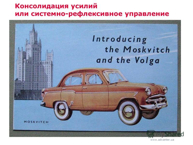www.advanter.ua Консолидация усилий или системно-рефлексивное управление