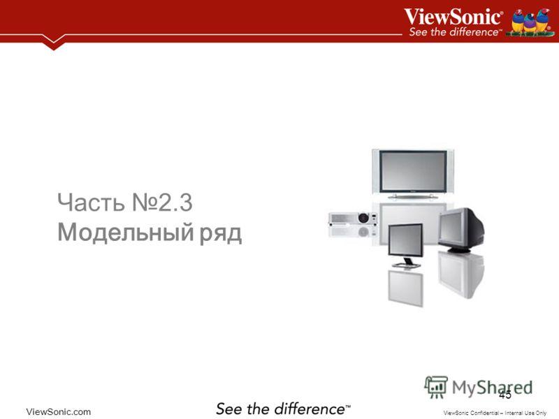 ViewSonic.com ViewSonic Confidential – Internal Use Only 45 Часть 2.3 Модельный ряд