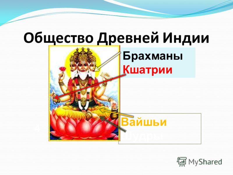 Общество Древней Индии Брахманы Кшатрии Вайшьи Шудры 4