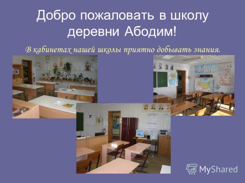 Добро пожаловать в школу деревни Абодим! В кабинетах нашей школы приятно добывать знания.