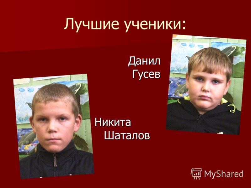 Лучшие ученики: Данил Гусев Данил Гусев Никита Шаталов