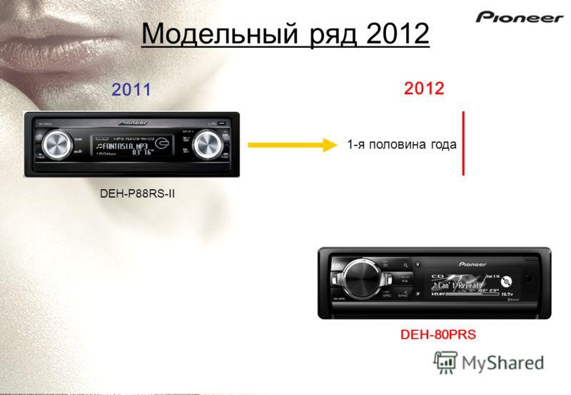Модельный ряд 2012 DEH-P88RS-II 2011 2012 DEH-80PRS 1-я половина года