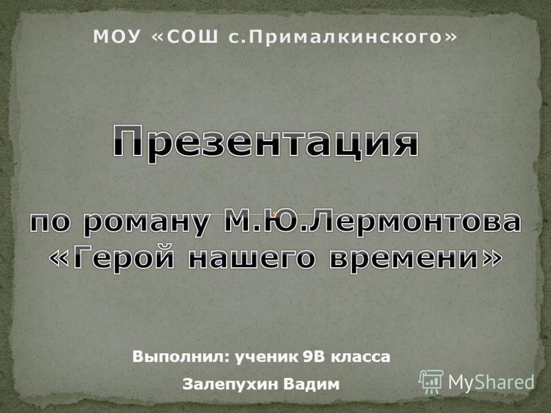 Выполнил: ученик 9В класса Залепухин Вадим