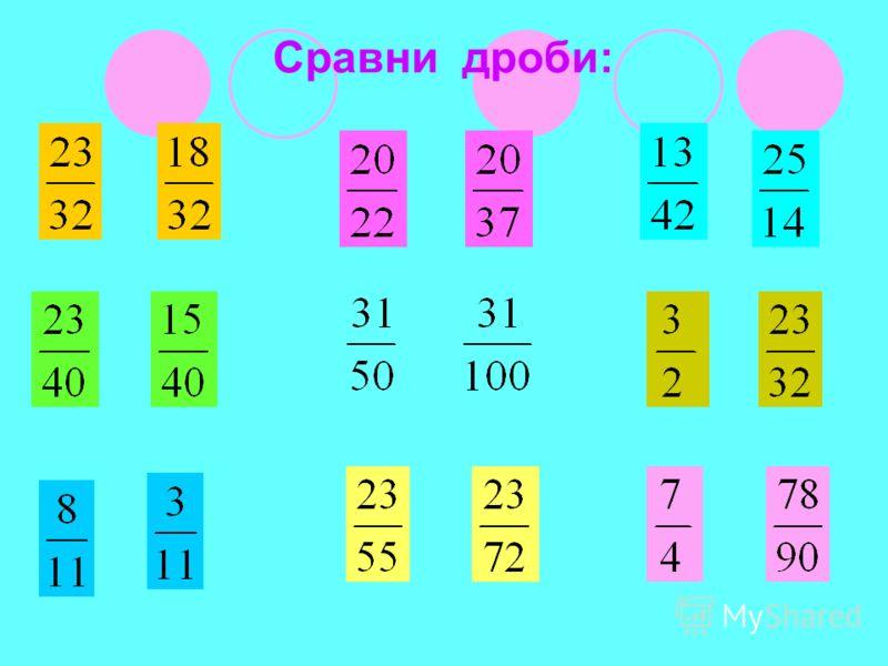 Заполнить таблицу ЧастноеДелимоеДелительЧислительЗнамена- тель Дробь 2:10 1050 818
